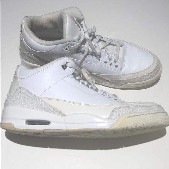 6c9a82b941f Jordan Other - Nike air Jordan retro 3 white size 13 slvr annvsry